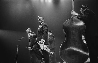 Photograph - Louis Armstrong On Stage by Haywood Magee