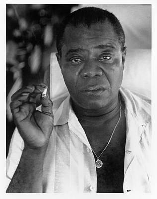 Photograph - Louis Armstrong Portrait by Herb Snitzer