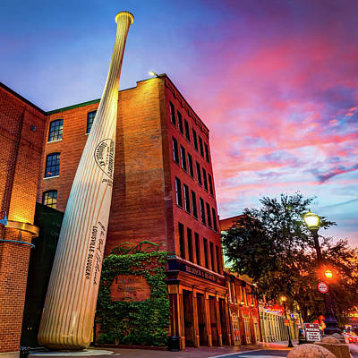Photograph - Louisville Slugger And Kentucky Architecture At Sunset - Square Art by Gregory Ballos