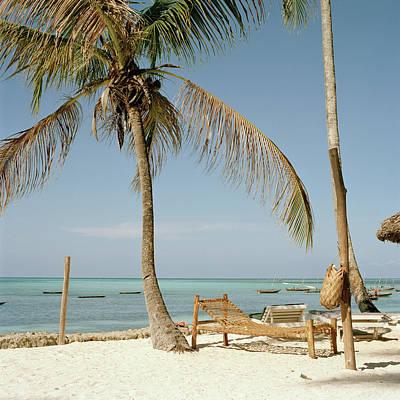 Lounge Chair Photograph - Lounge Chair On Beach By Ocean by Christina Fallara