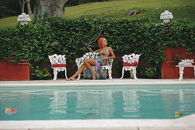 Photograph - Lounging In Bermuda by Slim Aarons