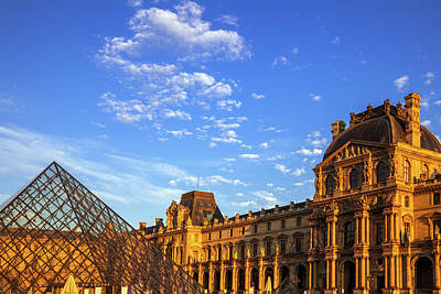Royalty-Free and Rights-Managed Images - Louvre at Evening by Andrew Soundarajan