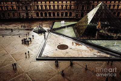 Photograph - Louvre Pyramid by Miles Whittingham