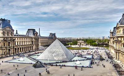 Digital Art - Louvre Window by Scott Onstott