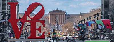 Photograph - Love And The Art Museum Panorama by Bill Cannon