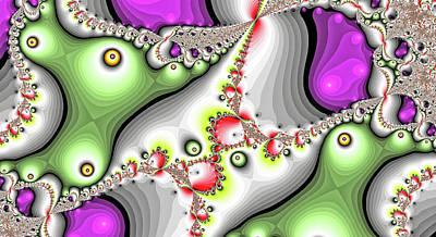 Shark Art - Love Birds Green Abstract Art by Don Northup