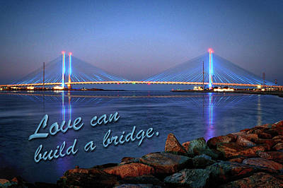 Photograph - Love Can Build A Bridge Indian River Inlet by Bill Swartwout Photography
