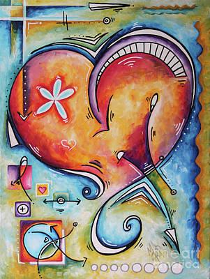 Love Eternal Original Acrylic Heart Love Painting By Megan Duncanson  Original