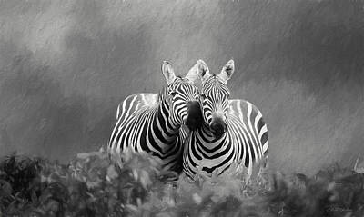 Painting - Love In Black And White - Painting by Ericamaxine Price