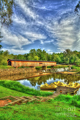 Photograph - Love Is Kind Watson Mill Covered Bridge Madison County Gerogia Art by Reid Callaway
