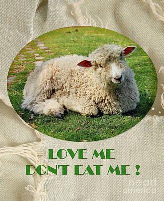 Digital Art - Love Me ...  Dont Eat Me by Elaine Manley
