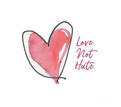 Painting - Love Not Hate by Kathleen McElwaine