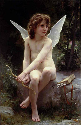 Painting - Love On The Look Out by William A Bouguereau