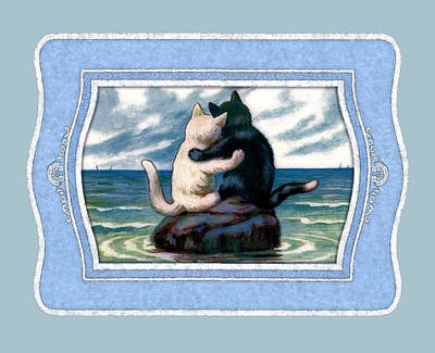 Painting - Love On The Rocks by Shabby Chic and Vintage Art