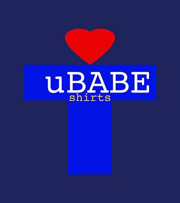 Digital Art - Love T-shirts by Ubabe Style