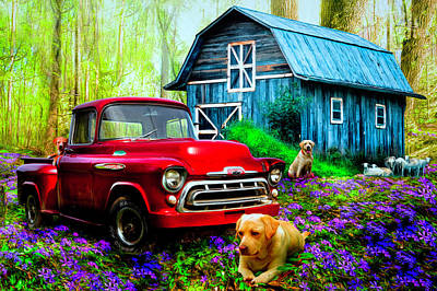 Photograph - Love That Old Truck At Springtime  by Debra and Dave Vanderlaan