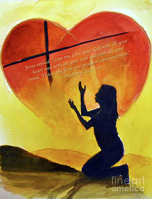 Painting - Love The Lord by Allison Ashton