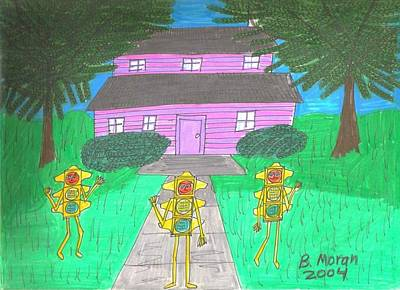 Drawing - Love This House by Barb Moran