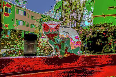 Blue Hues - Skid Row Kitten V2 by Kenneth James