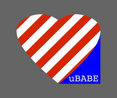 Digital Art - Love Ubabe America by Ubabe Style