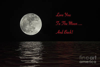 Digital Art - Love You To The Moon And Back by Sharon McConnell