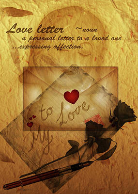 Digital Art - Loveletter by Valerie Anne Kelly