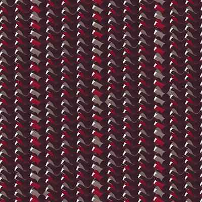 Pittsburgh According To Ron Magnes - Lovely Dark Red Pattern by Amir Faysal