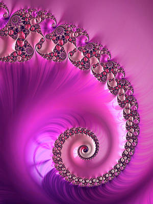 Royalty-Free and Rights-Managed Images - Lovely Fractal Spiral violet and hot pink by Matthias Hauser