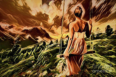 Painting - Lovely Mountain Woman A1930 by Ray Shrewsberry
