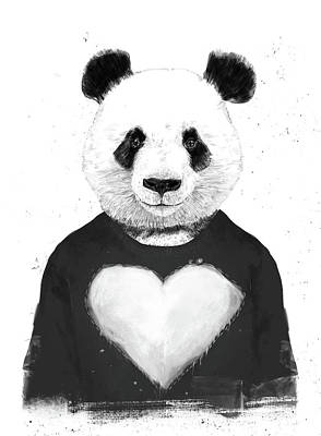 Funny Mixed Media - Lovely Panda  by Balazs Solti