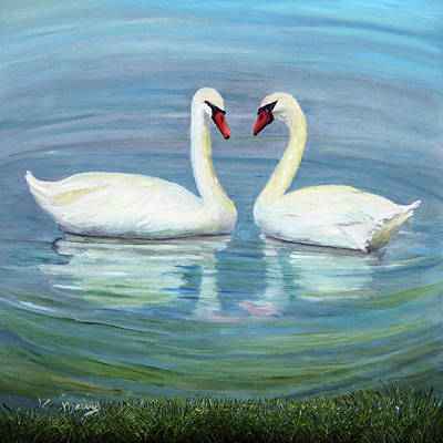 Painting - Loving Swan by Alicia Maury