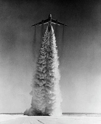 Flying Photograph - Low Angle View Of A Bomber Plane Taking by Superstock
