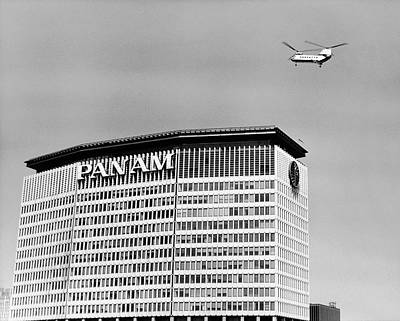 Flying Photograph - Low Angle View Of A Building, Pan Am by Superstock