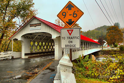Photograph - Low Clearance At The Ashuelot Covered Bridge by Adam Jewell