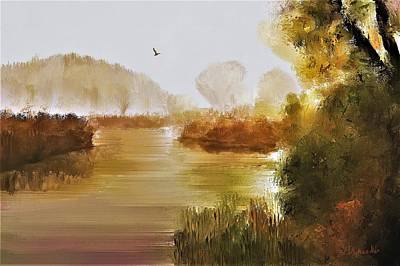 Digital Art - Low Country Autumn by Diane Chandler