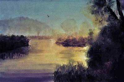 Digital Art - Low Country By Moonlight by Diane Chandler