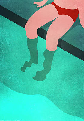 Digital Art - Low Section Of Person Relaxing At by Malte Mueller