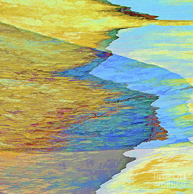 Abstract Oil Paintings Color Pattern And Texture - Low Tide Abstract Squared I by Regina Geoghan