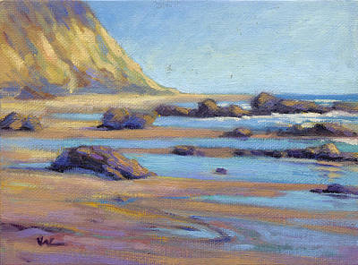 Painting - Low Tide At  Crystal Cove by Konnie Kim