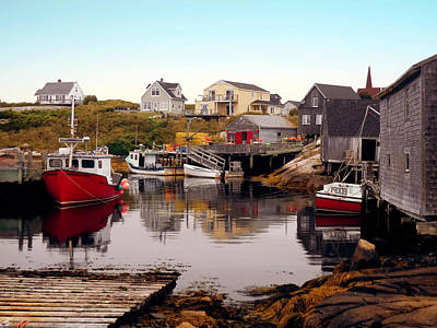 Photograph - Low Tide At Peggy's Cove by Max Huber