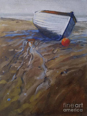 Painting - Low Tide Boat by Mary Hubley