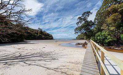 Photograph - Low Tide Crossing Stewart Island New Zealand by Joan Carroll