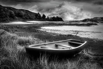 Photograph - Low Tide On Kerrera In Black And White by Debra and Dave Vanderlaan