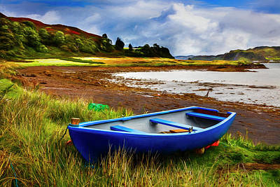 Photograph - Low Tide On Kerrera Painting by Debra and Dave Vanderlaan