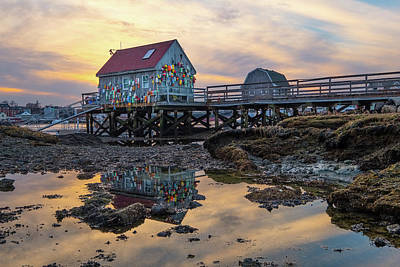 Photograph - Low Tide Reflections, Badgers Island.  by Jeff Sinon