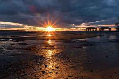 Photograph - Low Tide Sunset by Marzena Grabczynska Lorenc