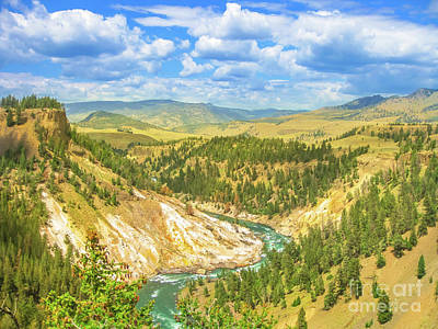 Photograph - Lower Falls In Yellowstone River by Benny Marty