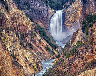 When Life Gives You Lemons - Lower Falls of the Yellowstone - #2 by Stephen Stookey
