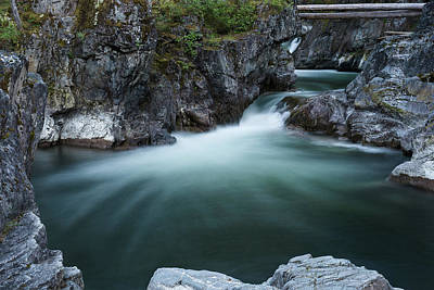 Moody Trees Rights Managed Images - Lower Falls Royalty-Free Image by Murray Rudd