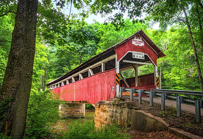 Photograph - Lower Humbert Covered Bridge by Carolyn Derstine